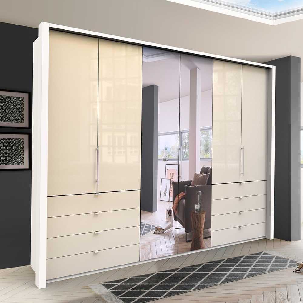 Falttüren Kleiderschrank mit Spiegel modern