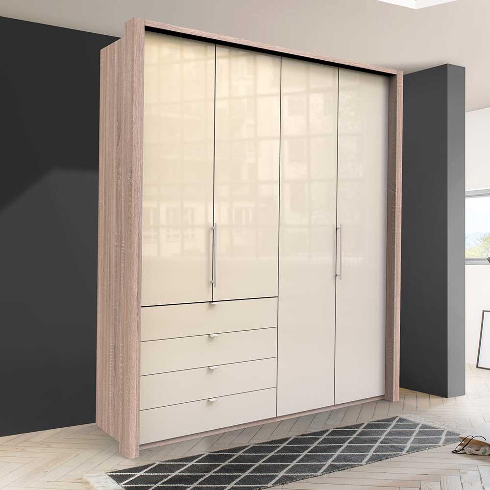 Moderner Jugend Kleiderschrank mit Falttüren vier Schubladen