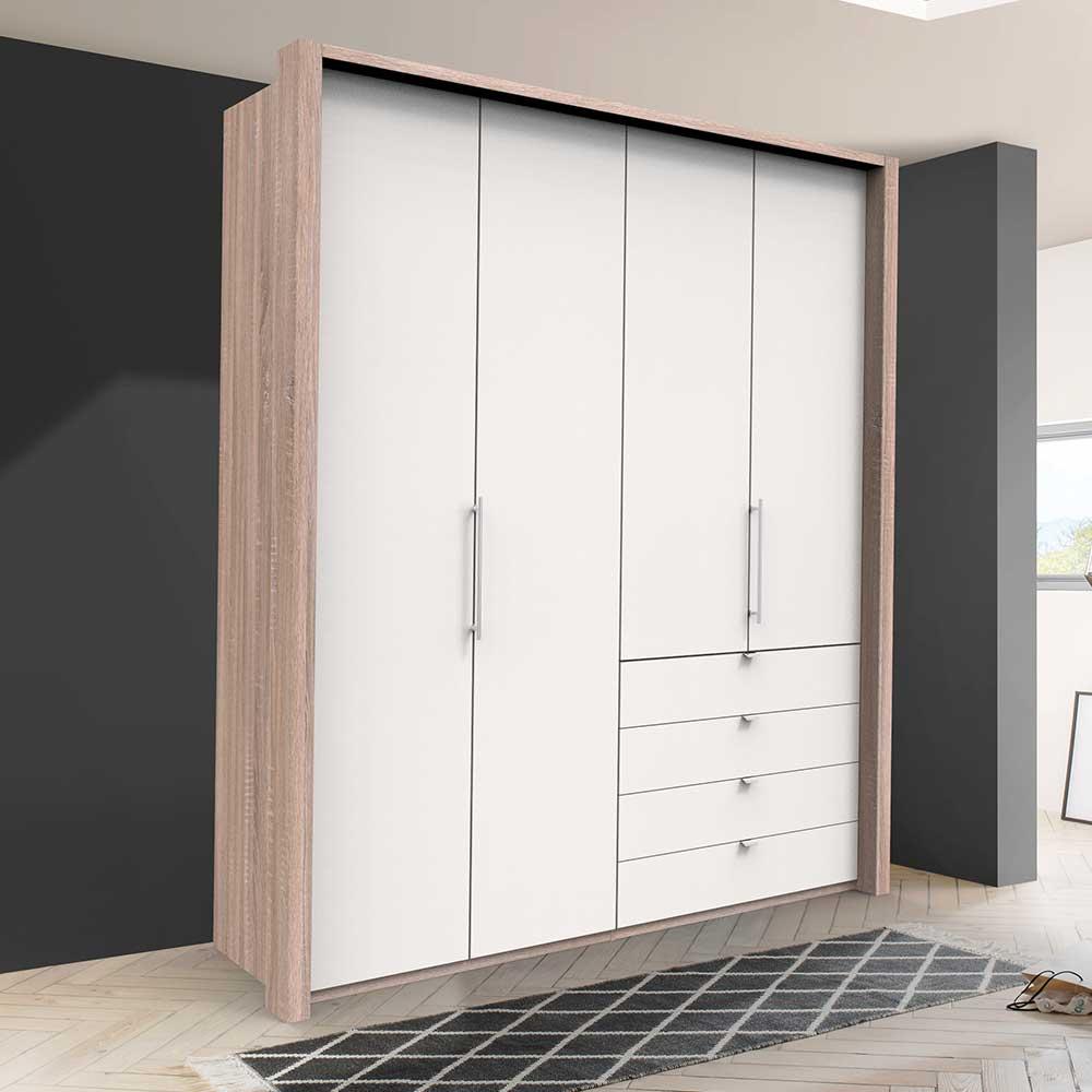 Kombi Kleiderschrank mit Falttüren und Schubladen Made in Germany