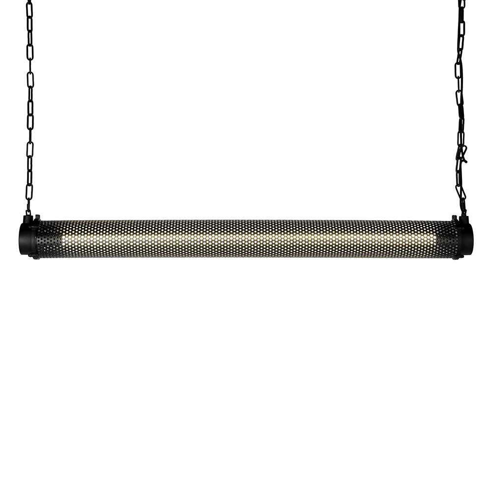 Metall Hängelampe in Schwarz LED Beleuchtung