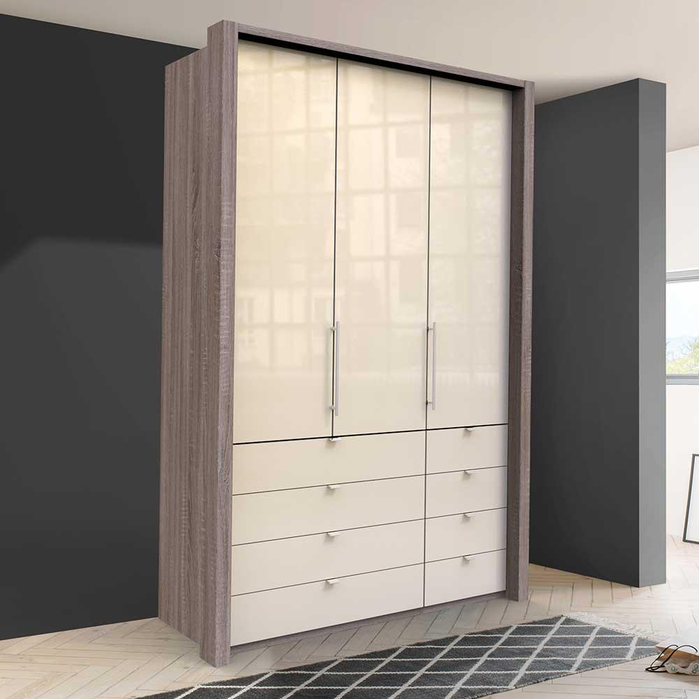 Kompakter Jugend Kleiderschrank mit acht Schubladen 2 türig