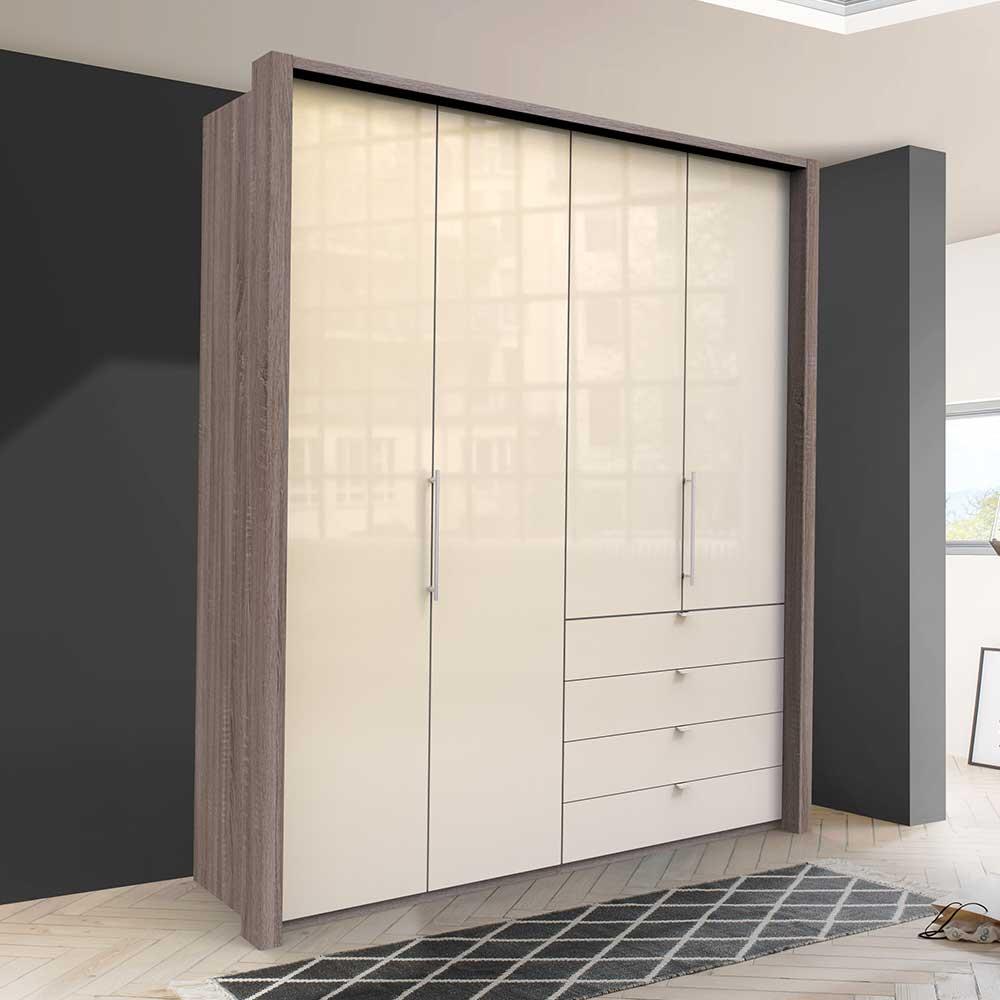 Jugend Kleiderschrank mit Falttüren und Schubladen modern