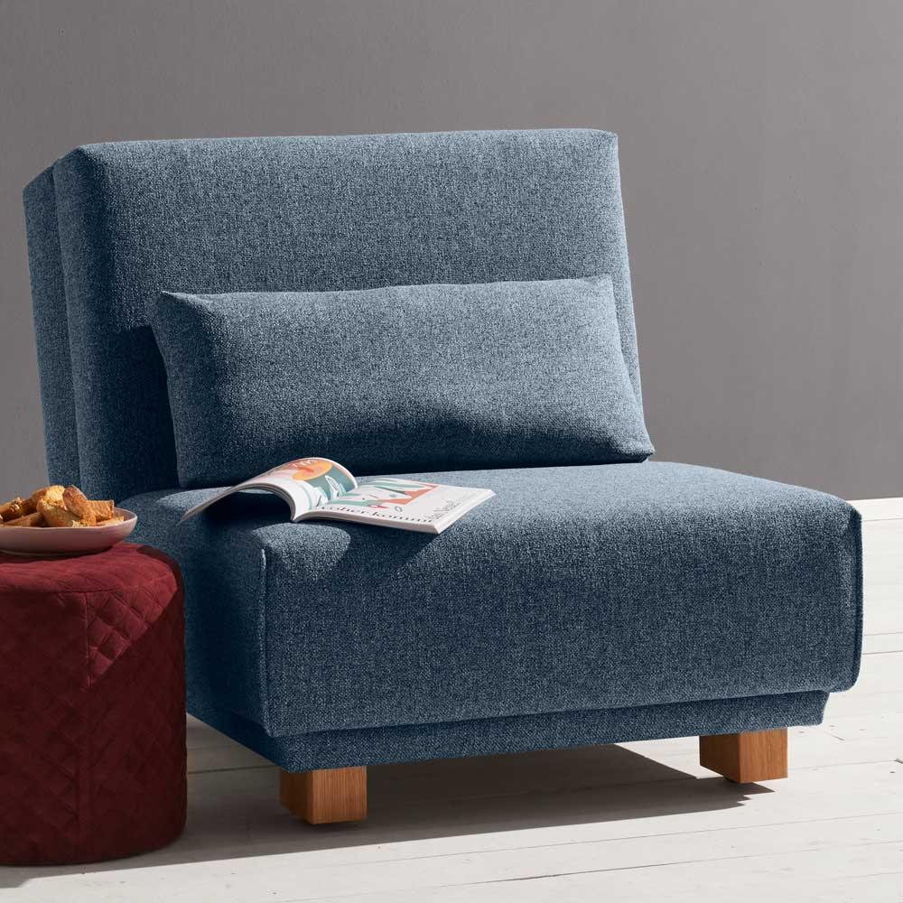 Sessel zum Schlafen Blau Stoff
