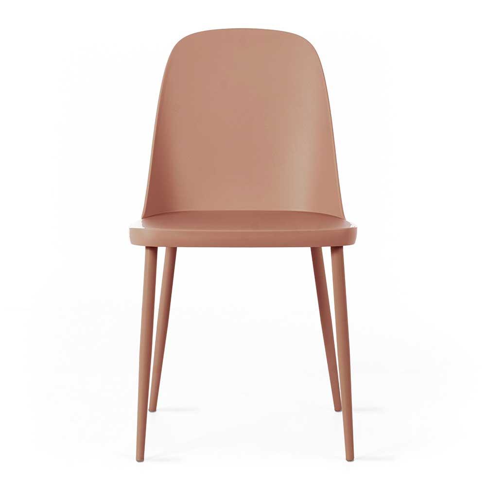 Esstisch Stühle in Rosenholz Kunststoff (4er Set)