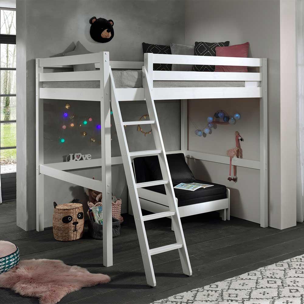 Kinderzimmer Set mit Sessel in Weiß Kiefer Massivholz (zweiteilig)