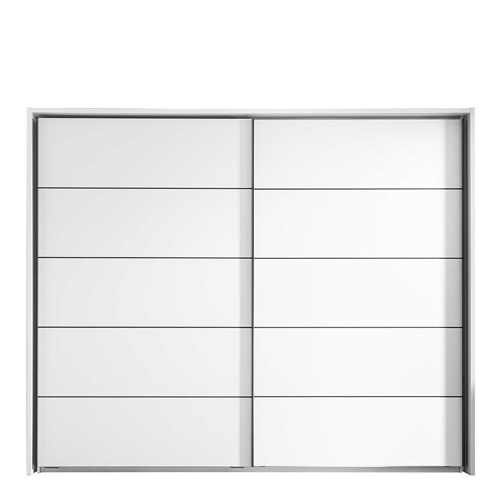 Schiebetüren Kleiderschrank mit Passepartout Rahmen Weiß