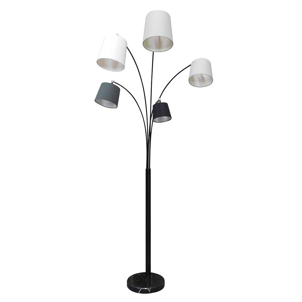 Stehleuchte in Grau und Weiß 213 cm hoch