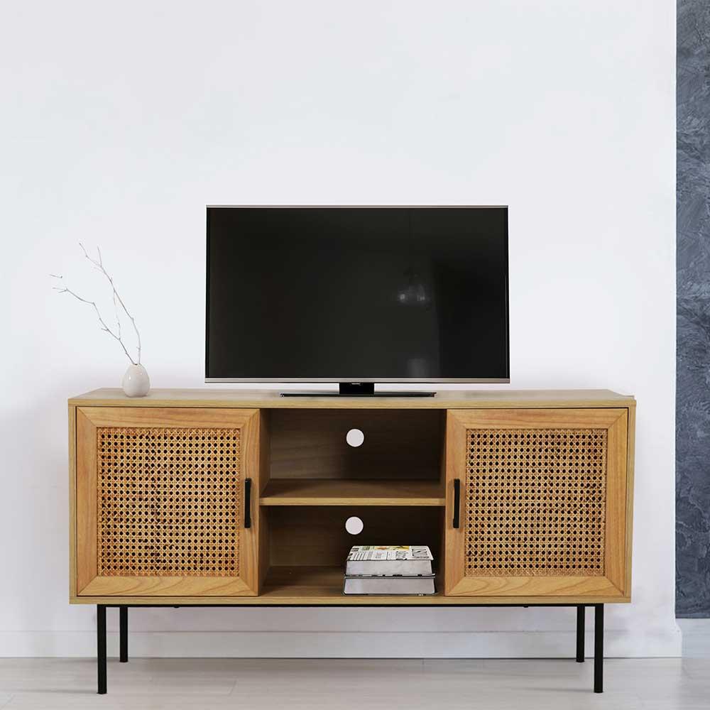 TV Lowboard aus Rattan Geflecht 120 cm breit