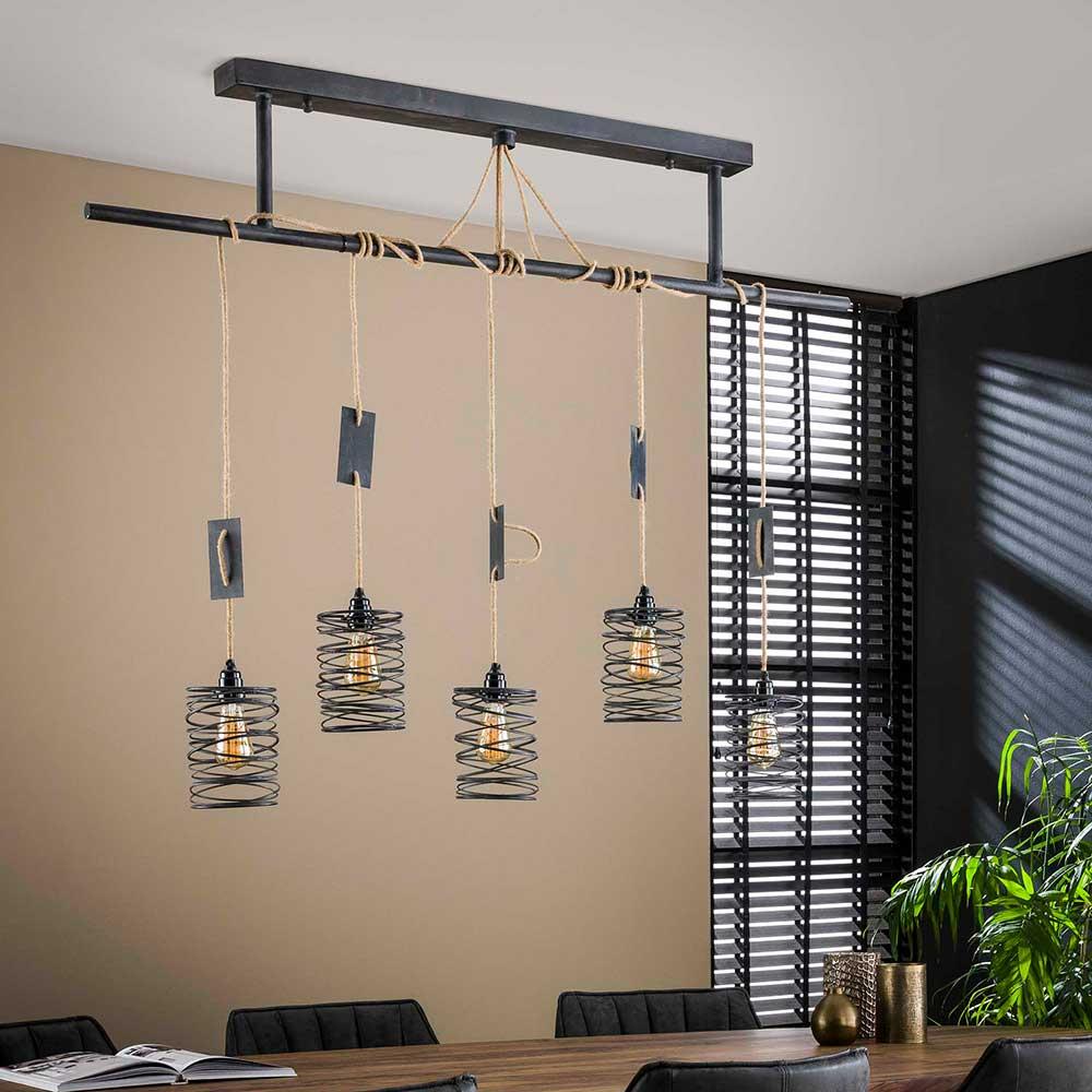 Design Pendelleuchte in Grau Industry und Loft Stil