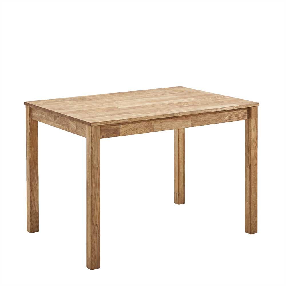 Holz Esstisch aus Eiche geölt Vierfußgestell