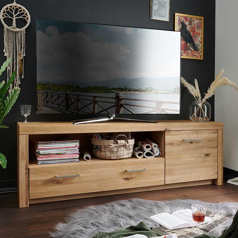 TV Lowboard aus Wildeiche Massivholz geölt